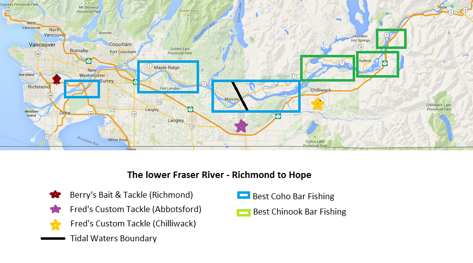 BC's Fraser River map